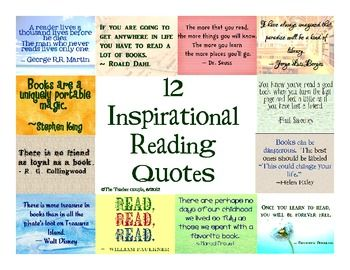 12 posters to display in your classroom. These quotes celebrate the gift, wonder, and joy of reading.