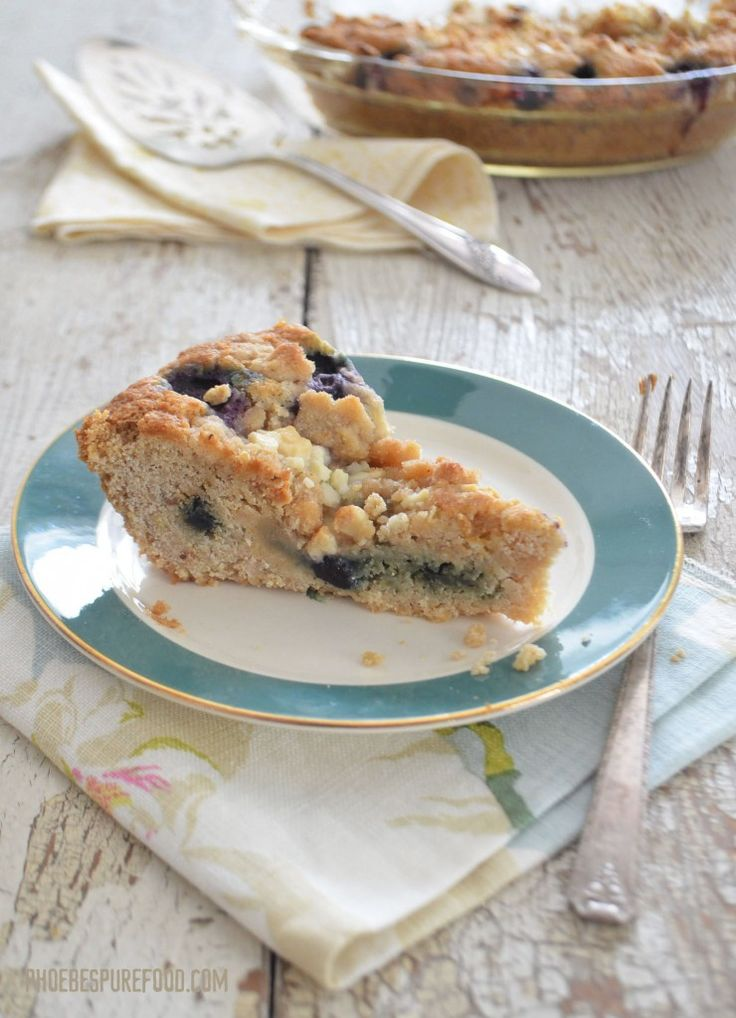 ... to make her scrumptious gluten-free blueberry crumb cake. So yummy