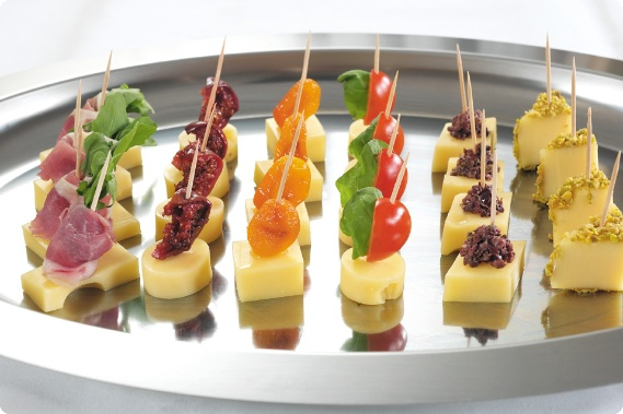 Jarlsberg canapes cheese party platters pinterest for Cheese canape ideas