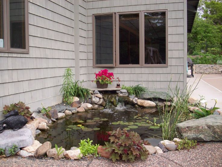 Nice small garden pond garden ideas pinterest - Corner pond ideas ...