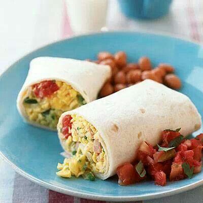 Scrambled egg burrito | Hopes | Pinterest