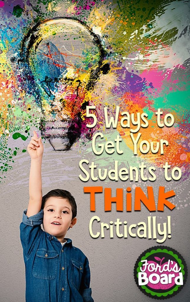 Critical And Creative Thinking Activities