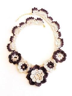 Free Knitting Patterns: Necklace jewelry yarn @other 2 Pinterest