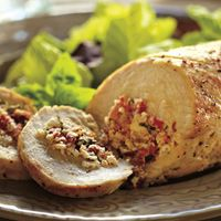 Goat Cheese & Sun-Dried Tomato Stuffed Chicken Breasts