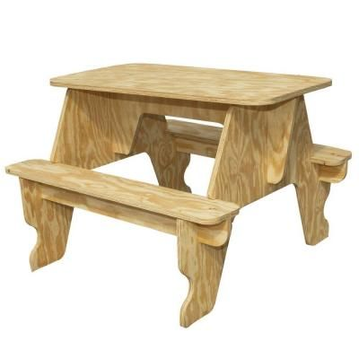 Wood quick assembly small picnic table 94701 at the home depot