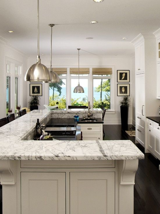 Bi level island kitchen ideas pinterest for Bi level kitchen designs