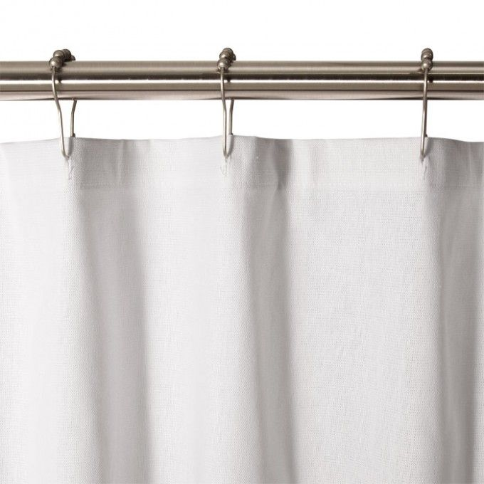 Cotton Duck Shower Curtain White Be Our Guest Bath Pinterest