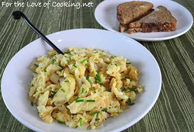 ... of Cooking » Caramelized Onion Scrambled Eggs AND Giveaway Winner