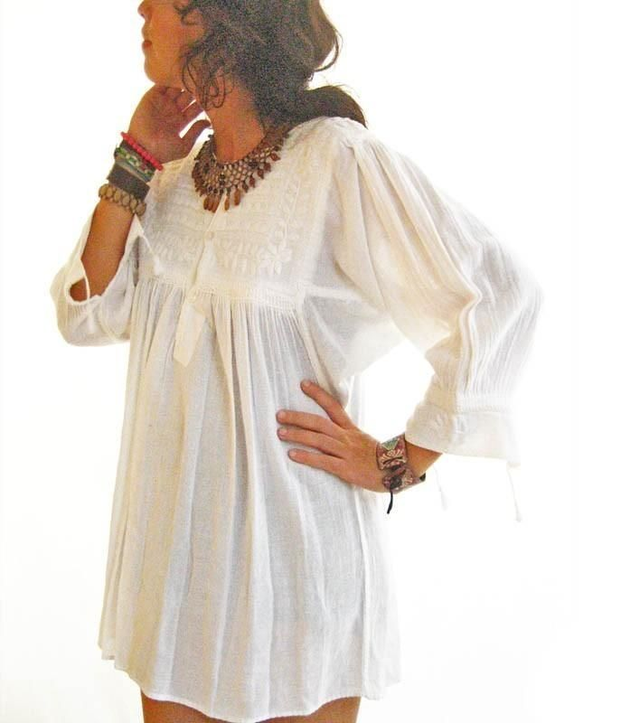 White Mexican Blouse 87