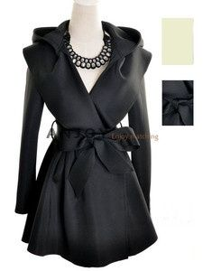 Wish   2012 Womens Hooded Trench Coat Outerwear Top & Hoodie Jacket