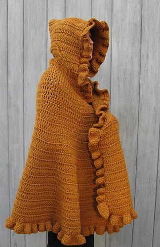 Ruffled Shawl/Cape by Linda Kaye Smith