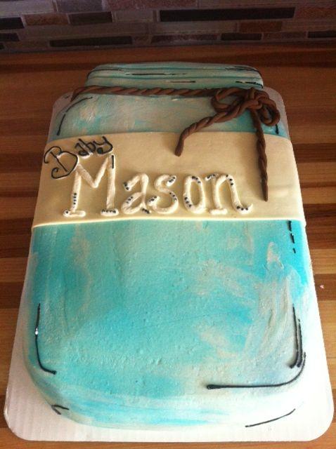 Cake Jar Designs : Mason Jar Baby Shower cake baby shower Ideas for our ...
