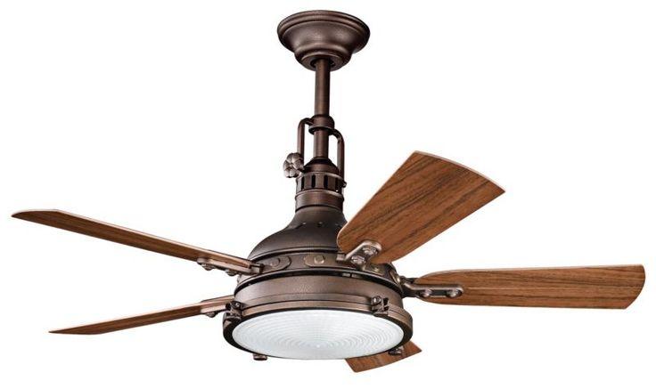 Rustic industrial ceiling fan decor pinterest - Industrial style ceiling fan with light ...