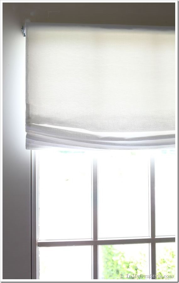No sew window treatment relaxed roman shades for Restoration hardware window shades