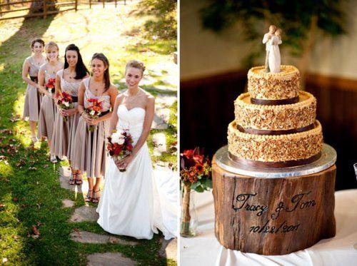 7 DIY FAll Wedding Asheville Rustic Cake