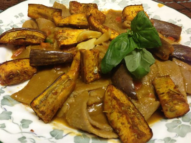 ... Whole Wheat Pasta with Roasted Eggplant and Tomato-Basil Sauce