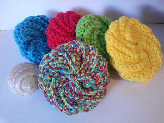 Crochet Patterns Only Spiral Scrubbie : spiral crochet