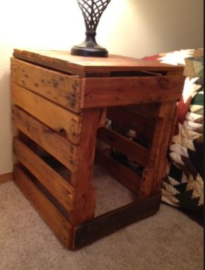 Pallet End Table Dog Crate Nahni Pinterest