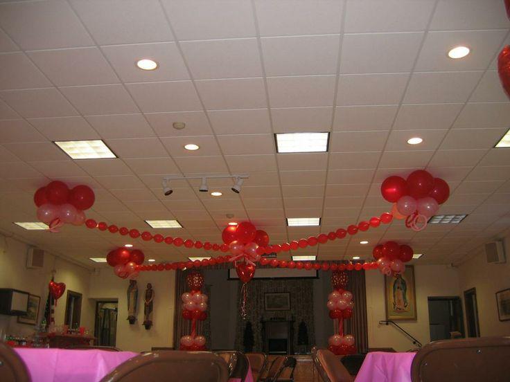 Dance floor balloon ceiling decor event decor parties for Balloon dance floor decoration