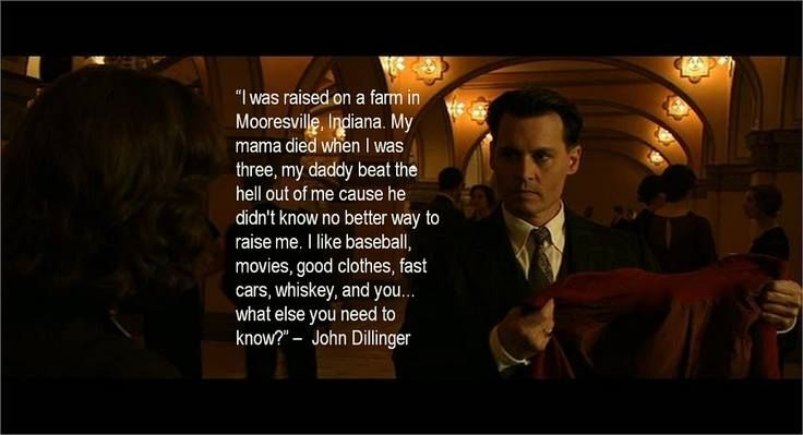 public enemies the story of john The underconceived public enemies suffers from that lack of drive, though johnny depp is so urgent and charismatic as john dillinger, he provides enough firepower to make the film legit read full review.