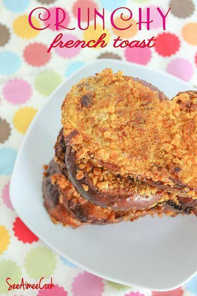Crunchy French Toast | recipes | Pinterest