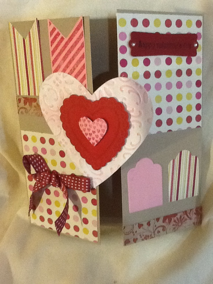 valentine's day folded book art