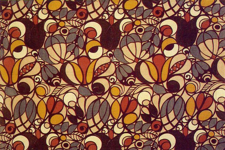 Textile design by Minnie McLeish, produced by William Foxton Ltd in 1920.