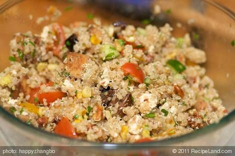Quinoa, Toasted Corn and Cherry Tomato Salad with Toasted Walnuts and ...
