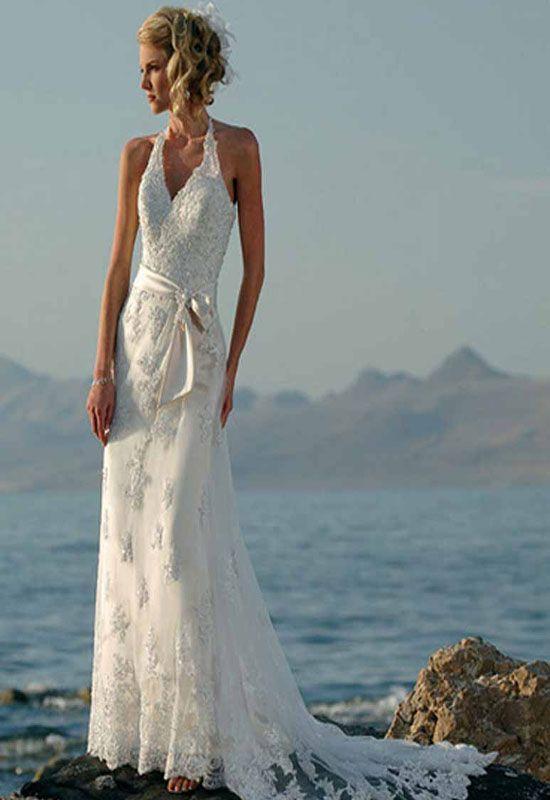 A line summer beach wedding dresses wedding pinterest for Summer wedding beach dresses