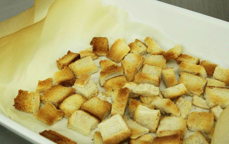 How to make croutons | How to make croutons | Pinterest