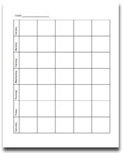 Blank Yearly Calendar Template – Printable Editable Blank 2017