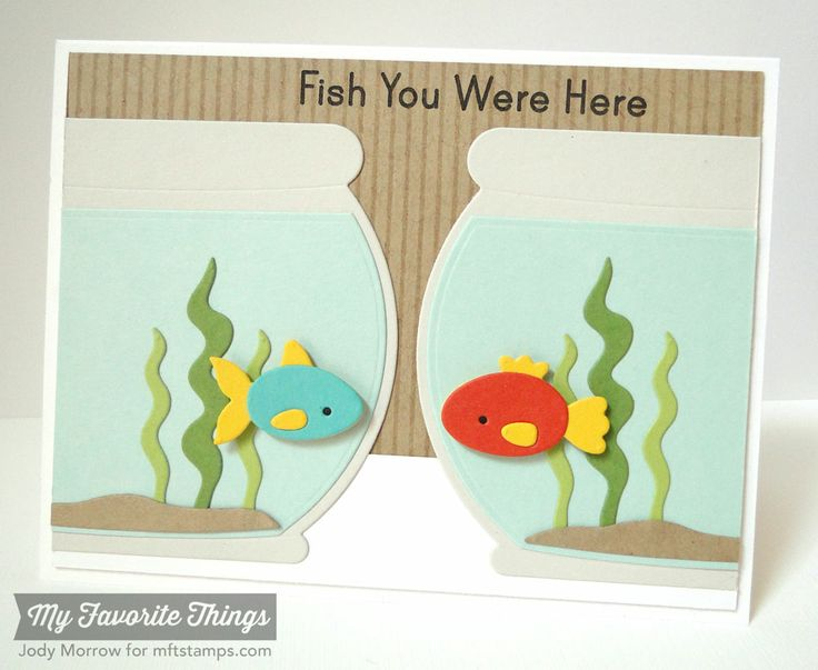 You're Fin-tastic, Fishbowl Die-namics - Jody Morrow #mftstamps