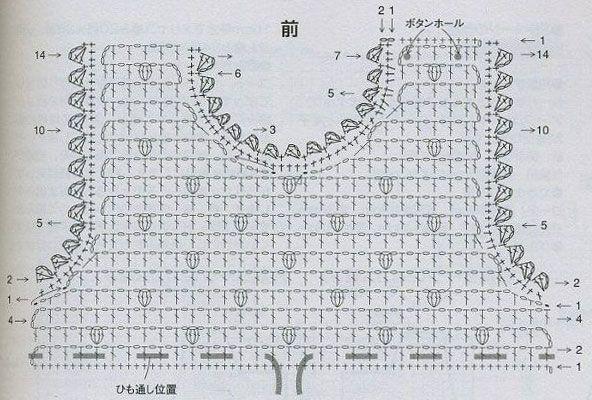 Вязание крючком кофты из элементов 14