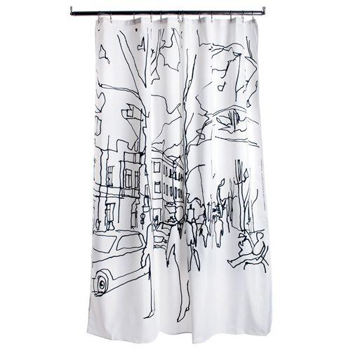 Marimekko Hetkiä Moments Long Polyester Shower Curtain