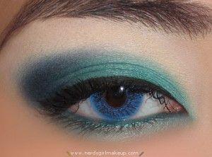 Teal eye shadow