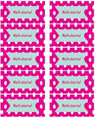 Free Math Journal Labels