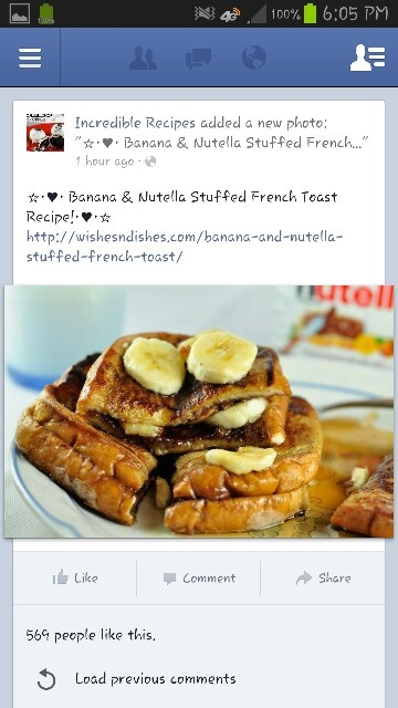 Banana & Nutella Stuffed French Toast | Breakfast Foods | Pinterest
