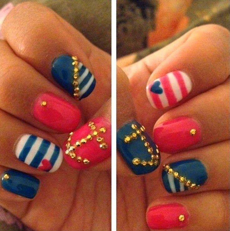 New Gorgeous Blue Nails Art 2014 | Nail | Pinterest