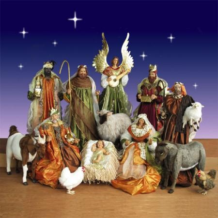 Life Size Nativity Set in resin and fabric - 5 ft. scale 14 piece. $ ...
