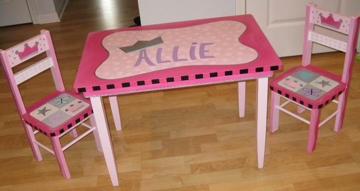 Painted Table + Chairs