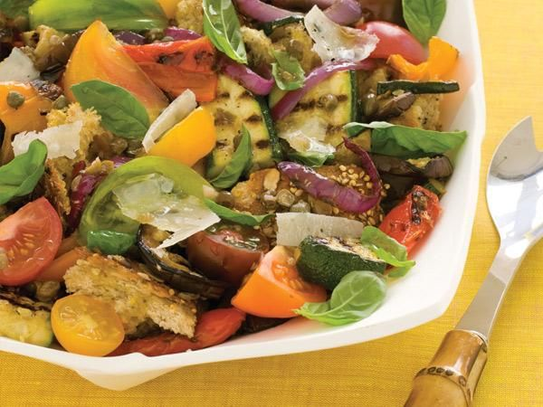 Eat All Week: Roasted Vegetables: Monday: Grilled Vegetable Panzanella ...