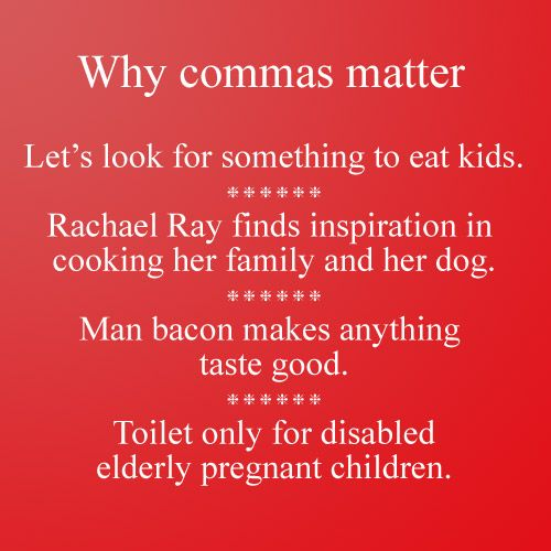 Why commas matter #grammar #punctuation