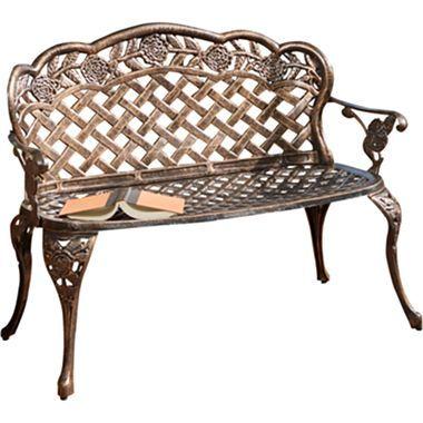 lucia outdoor garden bench jcpenney outdoor furniture pinterest