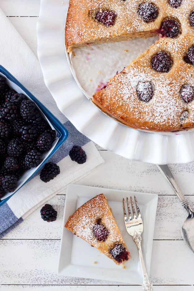 Blackberry Almond Breakfast Cake from Confessions of a Bright-Eyed ...