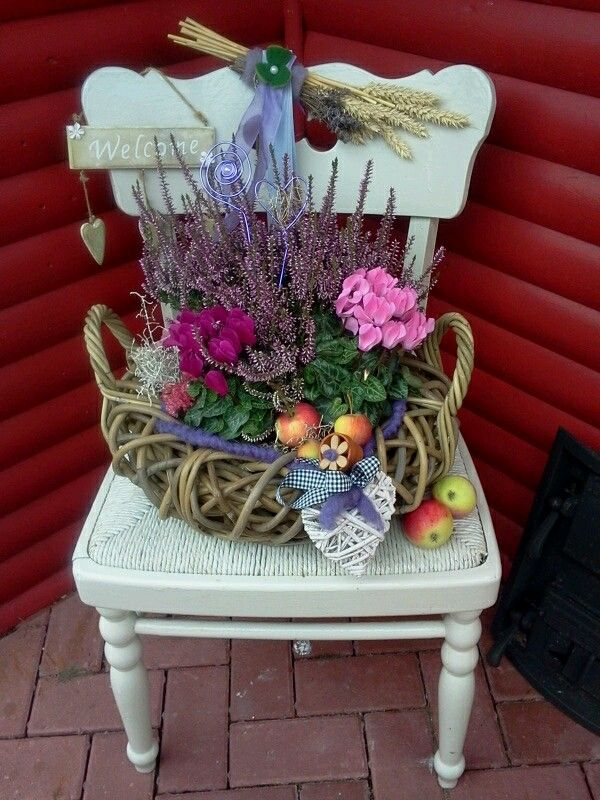 Herbstdeko  Gartendeko  Pinterest