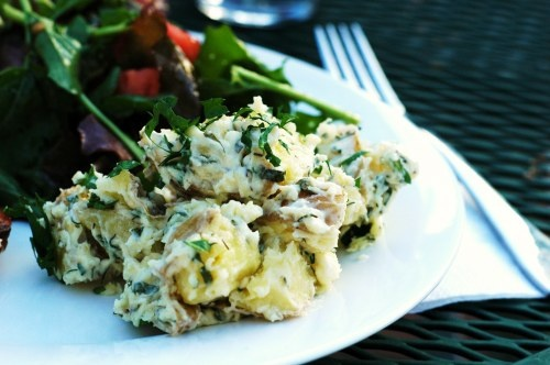 Garlic and Fresh Herb Potato Salad. | Potatoes | Pinterest