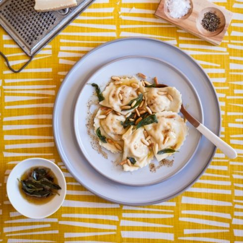 Fettuccine With Roasted Butternut Squash, Brown Butter & Sage Recipes ...