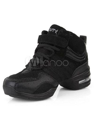 Trendy Black PU Mesh 2'' Heel Womens Jazz Shoes