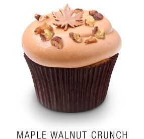 """Maple Walnut Crunch"""" Maple-infused cupcake baked with fresh walnuts ..."""