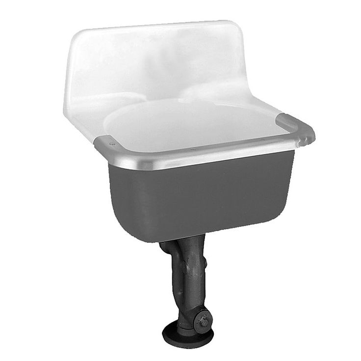 Cast Iron Sink : ... 7692.00 Lakewell Enameled Cast Iron Service Commercial Sink, White
